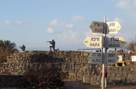 Esto fue escenario de guerra en el pasado hoy es sitio turístico Monte Bental frente a Siria.