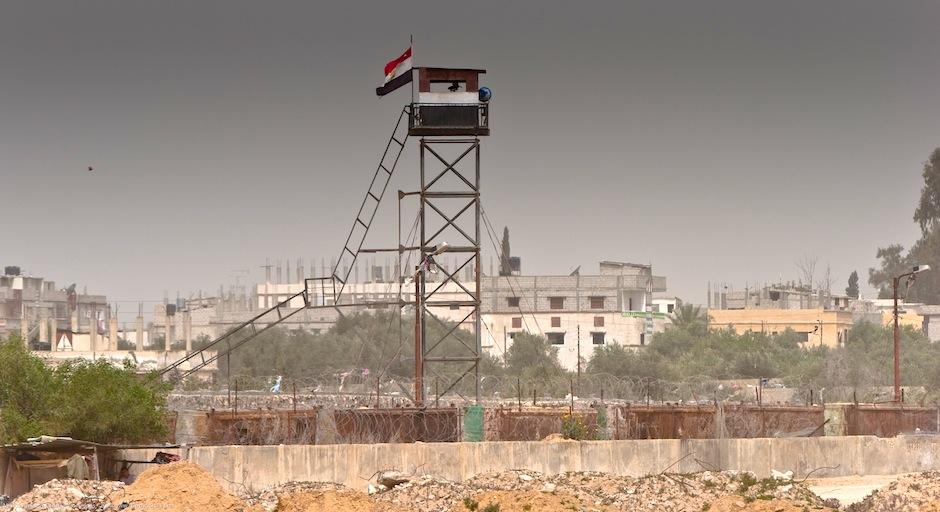 torre de seguridad-franja de gaza-egipto