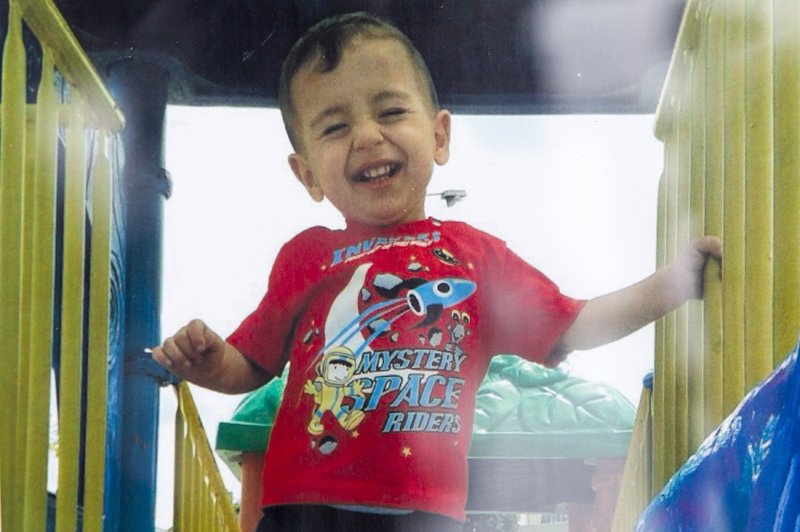A close up shows Aylan Kurdi in an undated Kurdi family photograph placed outside the home of their aunt Tima Kurdi in Coquitlam, British Columbia September 3, 2015.  REUTERS/Kurdi family/Handout via Reuters