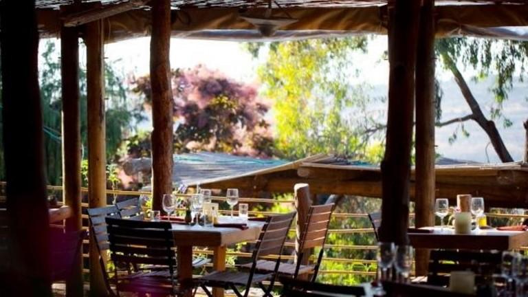 La atmósfera de los bosques de Nataf se siente en el restaurante. Foto cortesía.
