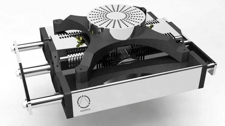 Así podría parecer un motor de automóvil en el futuro. Foto cortesía de Aquarius Engines.