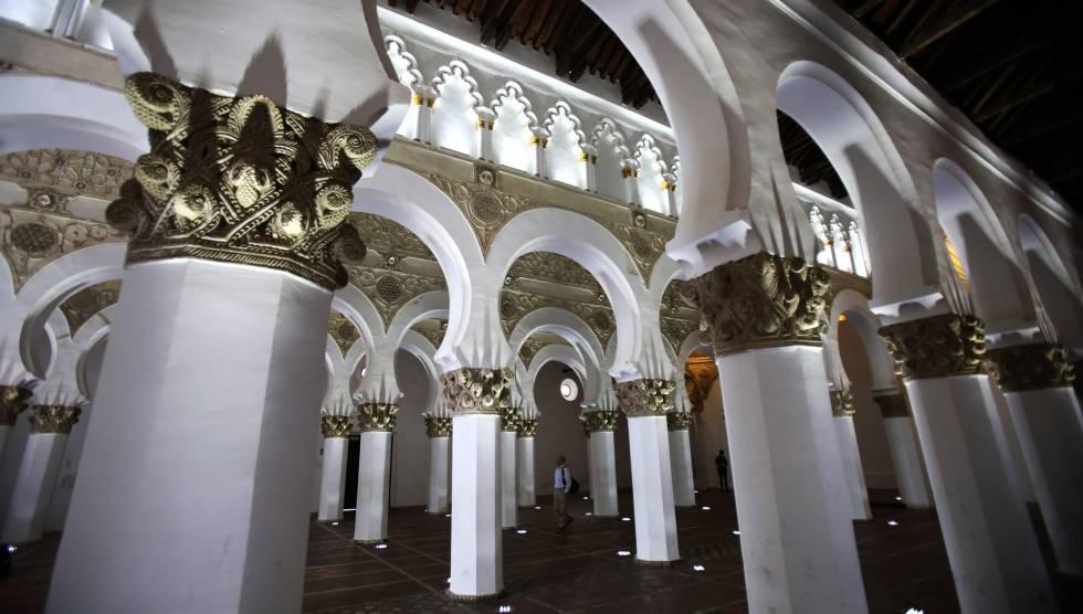 Interior de la antigua sinagoga de Santa María la Blanca, en Toledo, el pasado febrero.