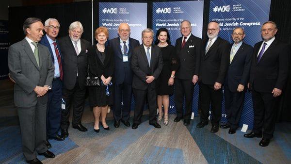 António Guterres con miembros del Plenario del Congreso Judío Mundial celebrado en Nueva York (WJC)