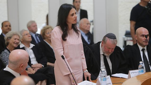 Justice Minister Ayelet Shaked (Photo: Alex Kolomoisky)