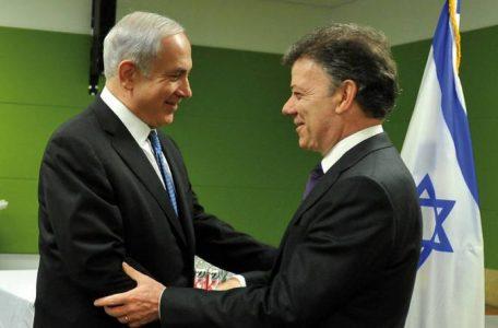 Resultado de imagen de Netanyahu con Santos, imagenes