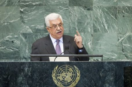 Abbas addressing the United Nations General Assembly in 2012
