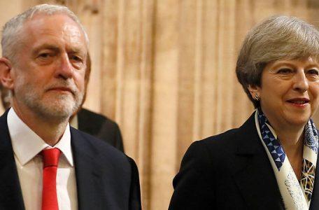 Corbyn and UK Prime Minister Theresa May (Photo: AP)