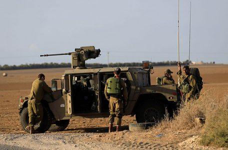 IDF force near the Gaza border, Monday (Photo: AP)