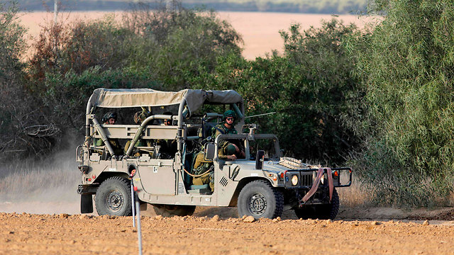 IDF force near the Gaza border, Monday (Photo: AFP)