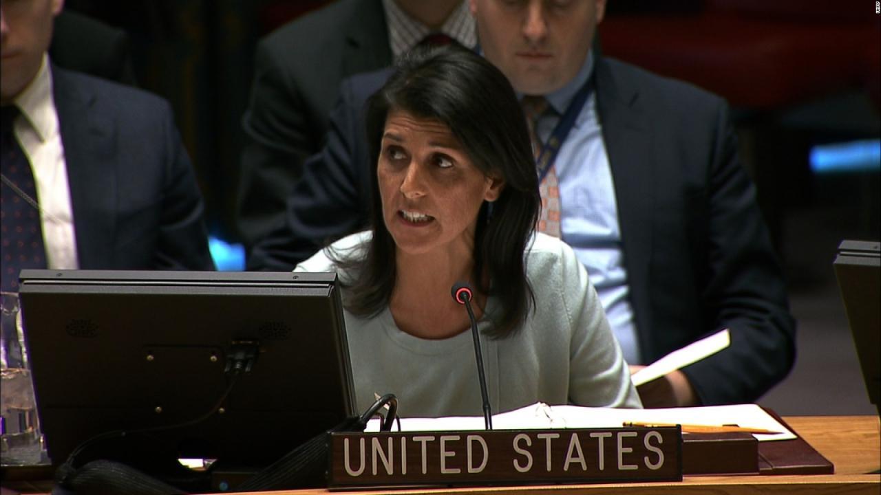 Resultado de imagen de Nikki Haley en la ONU
