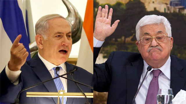 PM Netanyahu (L) said PA President Abbas 'tore mask off' (Photo: AP)
