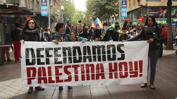 Una marcha en Chile a favor de Palestina