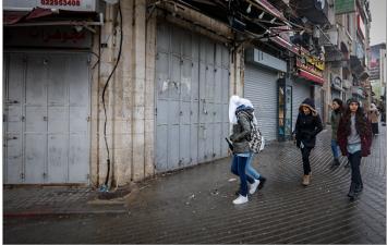 La huelga de comercio general en los territorios de la Autoridad Palestina en protesta por la visita del vicepresidente de Estados Unidos Mike Pence y por la declaración del presidente Trump (Wafa, 23 de enero de 2018)