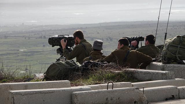 Puesto de observación de las FDI cerca del límite norte (Foto: Effi Sharir)