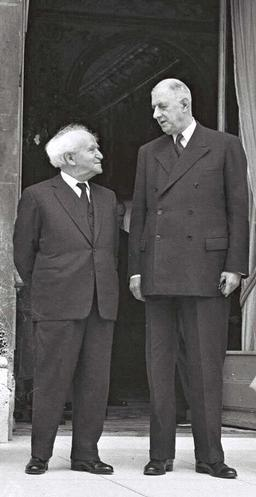 Ben-Gurion y Charles de Gaulle