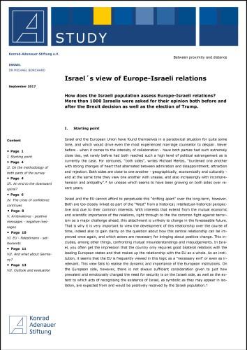 Opiniones de Israel sobre las relaciones entre Europa y Israel