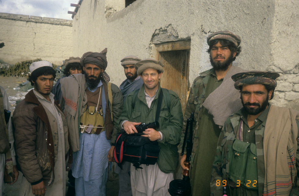 With afghan resistance fighters, 1989