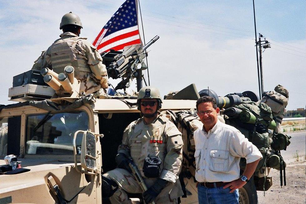 With US forces at the Battle of Mosul, Iraq, 2004