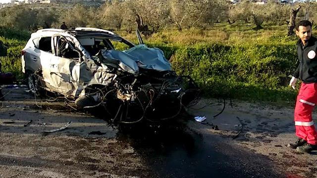 El coche del terrorista en la escena del ataque