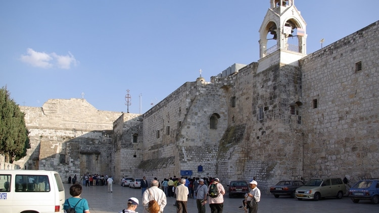 La Iglesia de la Natividad en Belén, Cisjordania (Wikipedia)