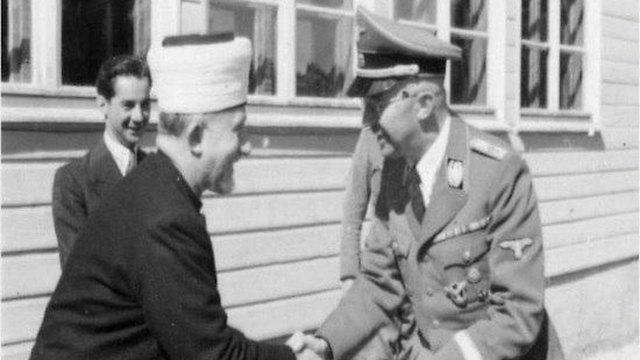 Mufti de Jerusalén Haj Amin al-Husseini se encuentra con Himmler