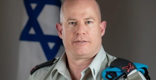 Brig. Gral. Hidai Zilberman, portavoz de las Fuerzas de Defensa de Israel